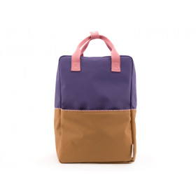 Sticky Lemon Rucksack COLOUR BLOCK L lila-braun