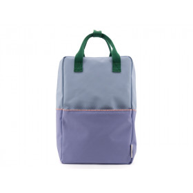 Sticky Lemon Rucksack COLOUR BLOCK L blau-lila