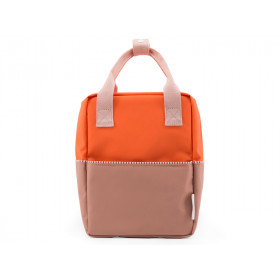 Sticky Lemon Rucksack COLOUR BLOCK S orange-braun