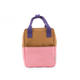 Sticky Lemon Rucksack COLOUR BLOCK S rosa-braun