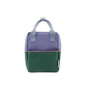 Sticky Lemon Rucksack COLOUR BLOCK S lila-grün