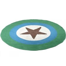 Smallstuff Teppich mit braunem Stern