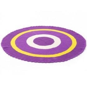 Smallstuff Teppich in violett/gelb