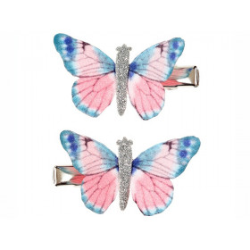 Souza 2 Haarklammern Schmetterling ELIN blau