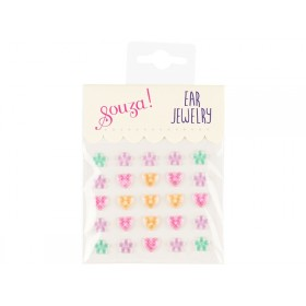 Souza Ohrclip-Sticker Set HERZEN & BLUMEN pastell