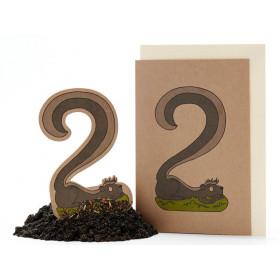 DieStadtgärtner Geburtstagskarte mit Saatstecker STINKTIER 2