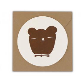 Ted & Tone Grußkarte BÄR small