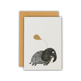 Ted & Tone Grußkarte ELEFANT small