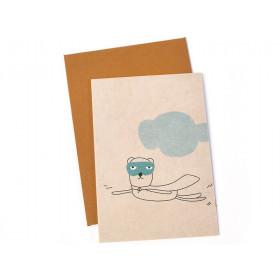 Ted & Tone Grußkarte OTIS SUPERHELD small