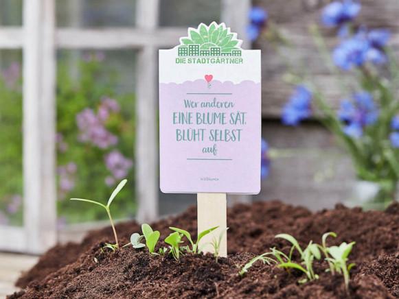 DieStadtgärtner SEEDGREETINGS Who sows a flower for others