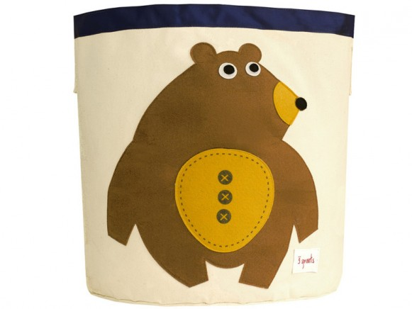 3 Sprouts storage bin bear