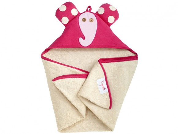 3 Sprouts hooded towel elephant
