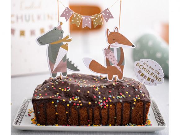 Ava & Yves Cake Topper SCHOOL