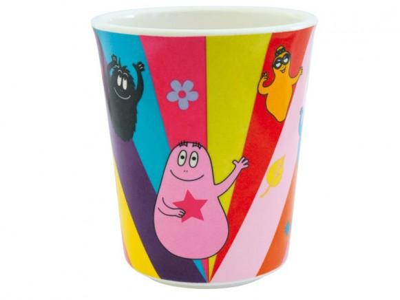 Colourful melamine cup Barbapapa by Petit Jour