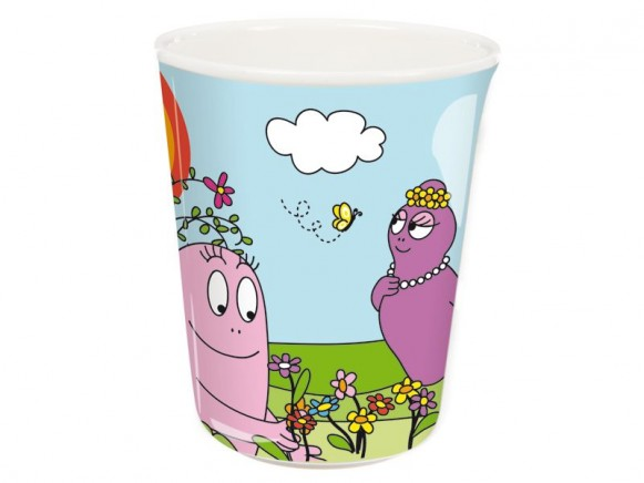 Colourful melamine cup Barbapapa by Petit Jour