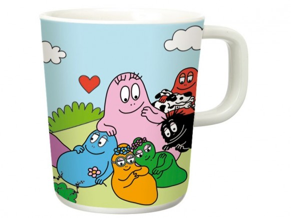 Melamine cup Barbapapa with handle by Petit Jour