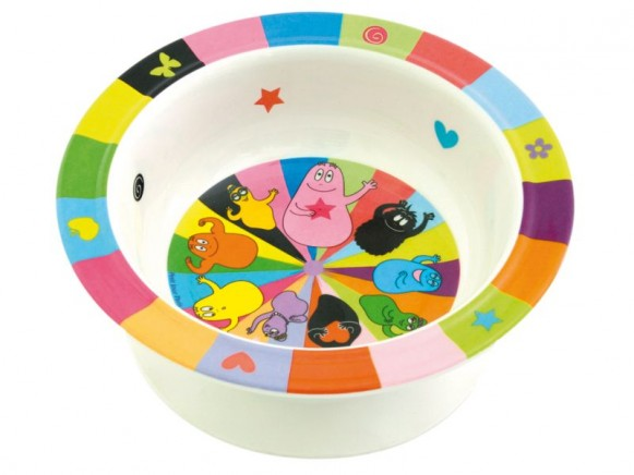 Colourful bowl Barbapapa with suction pad by Petit Jour