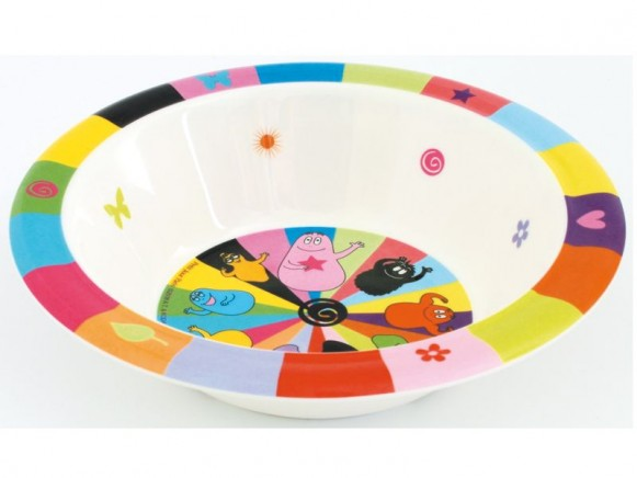Colourful melamine bowl Barbapapa by Petit Jour