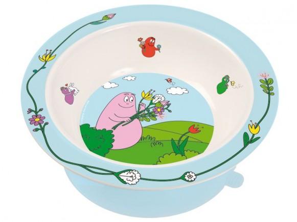 Bowl Barbapapa with suction pad by Petit Jour