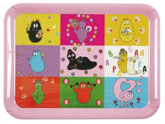Large serving tray Barbapapa by Petit Jour