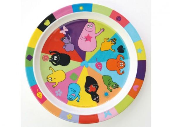 Colourful kids plate Barbapapa by Petit Jour