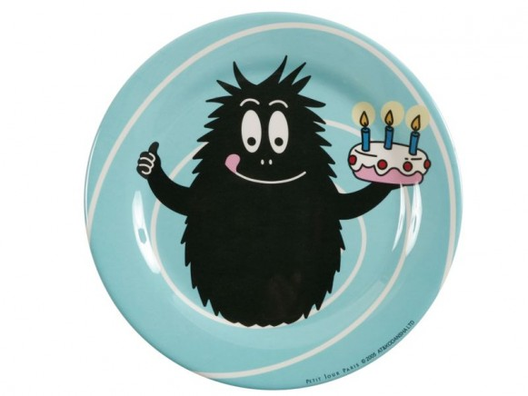 Large melamine plate Barbabo by Petit Jour