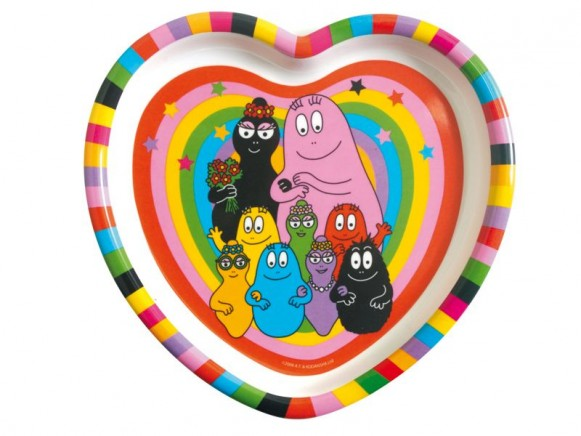Heart shaped plate Barbapapa by Petit Jour
