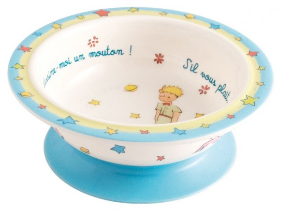 Melamine bowl The little Prince with suction pad by Petit Jour