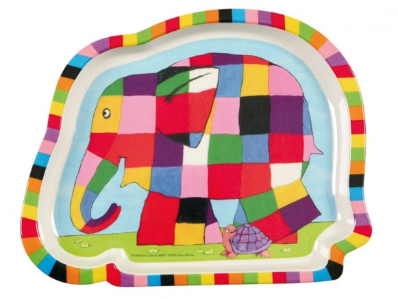 Elephant shaped melamine plate Elmar by Petit Jour