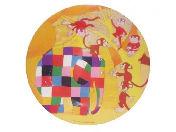 Melamine plate Elmar with apes by Petit Jour