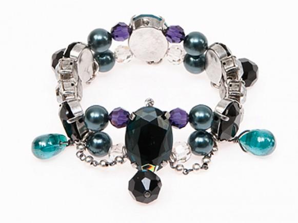 FIVA bracelet (AS, Swarovski, versilb.Elemente)
