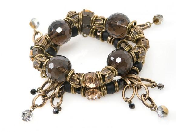 FIVA bracelet (Swarovski, Rauchquarz)