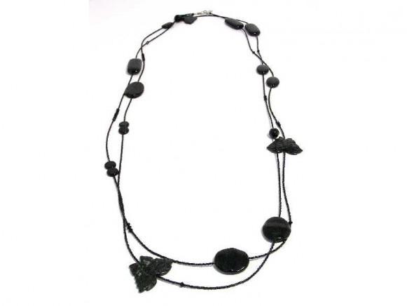 FIVA Necklace (Wickel XL fein schwarz)