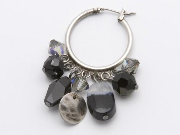 FIVA Earrings (Creole, schwarz)