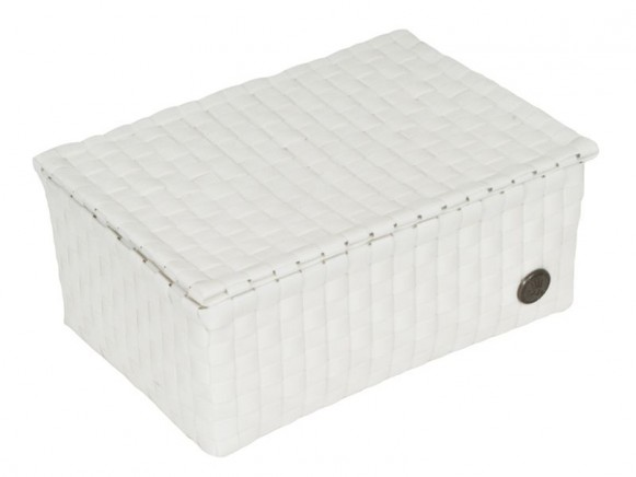 Small box with flaptop in white by Handed By