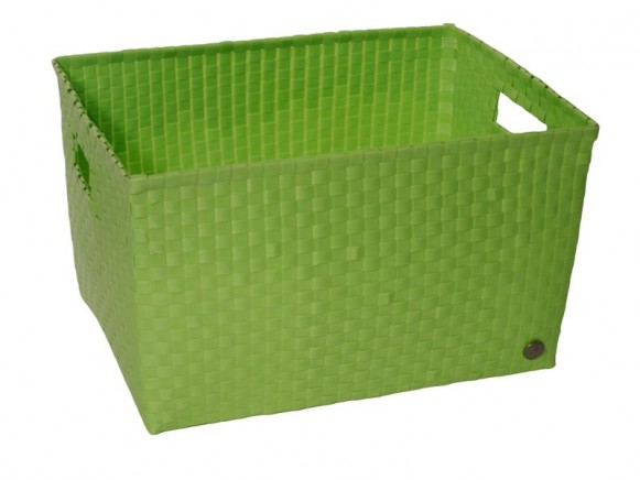 Open basket with open handles in applegreen by Handed By