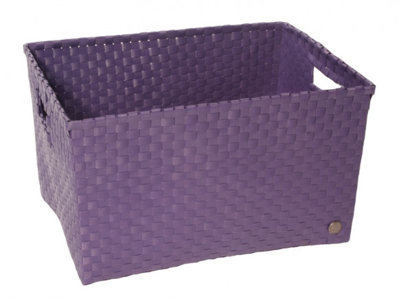 Open basket with open handles in lavender by Handed By
