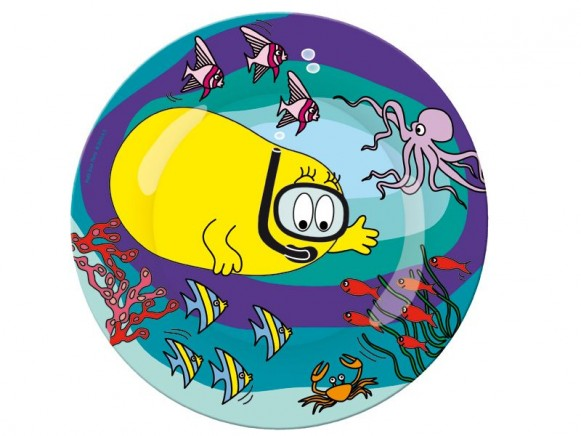 Melamine plate with diving Barbadou by Petit Jour