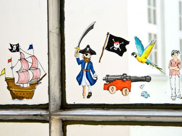 Window sticker Pirates by krima & isa