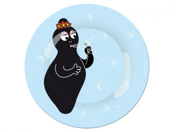 Blue melamine plate with Barbamama by Petit Jour