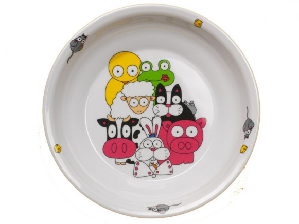 Childs plate Farm from melamine by Petit Appetit