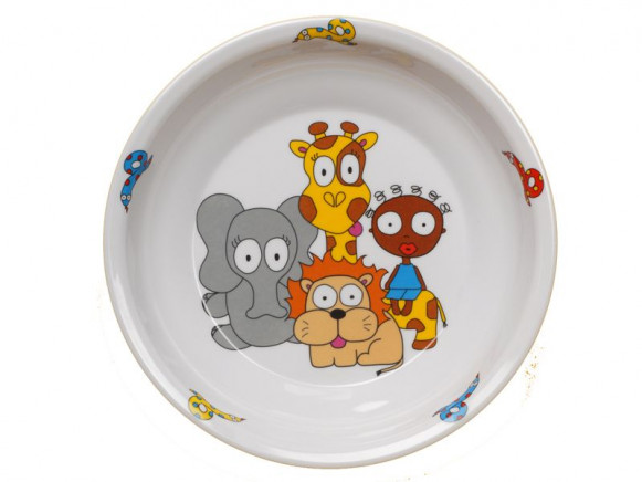 Childs plate Jungle from melamine by Petit Appetit