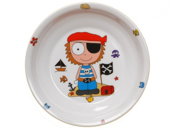 Childs plate Pirate from melamine by Petit Appetit