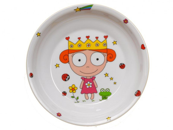 Childs plate Princess from melamine by Petit Appetit