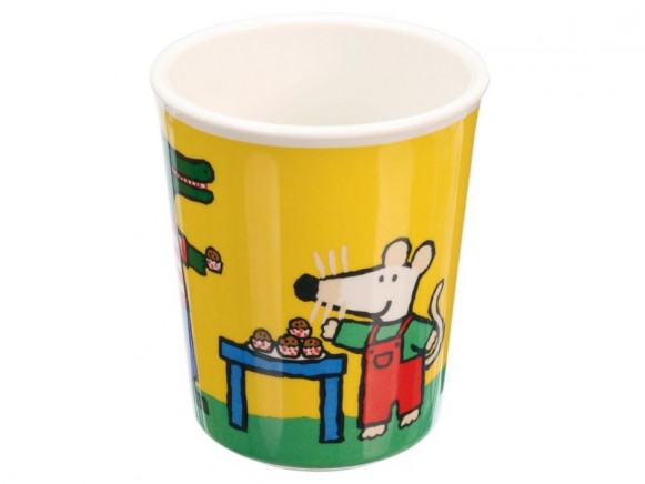 Colourful melamine cup with Mausi by Petit Jour