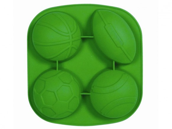 4 ball shaped silicone baking mold in green by RICE