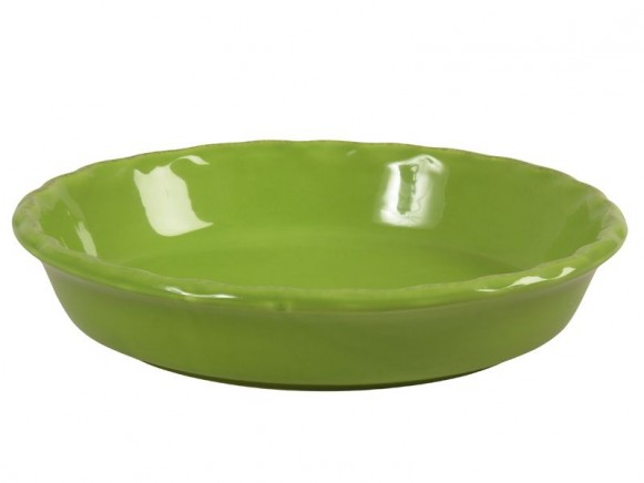 Large pie dish in green by RICE