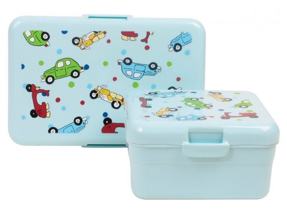 Kids lunchbox with vehicle print by RICE - Set of 2