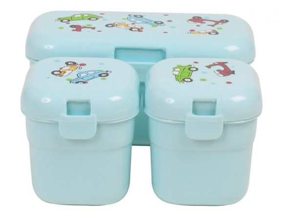 RICE Denmark lunch boxes with vehicle print - Set of 3