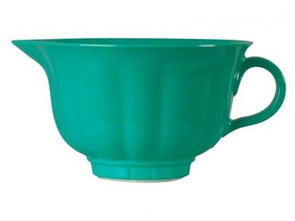 Melamine mixing bowl in jade green by RICE Denmark